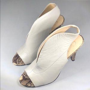 (p257) Jessica Simpson Javrey Peep-Toe White 9M